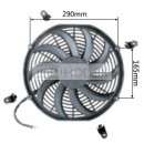 "Auto Radiator Fan Car cooling Fan universal 13""curved"
