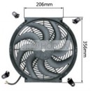 "Auto Radiator Fan Car cooling Fan universal 14""curved"