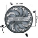 "Auto Radiator Fan Car cooling Fan universal 16""curved"