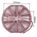 "Auto Radiator Fan Car cooling Fan universal 12""straight Red"