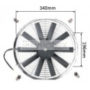 "Auto Radiator Fan Car cooling Fan universal 14""straight Chrome"