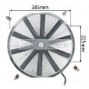 "Auto Radiator Fan Car cooling Fan universal 16""straight Chrome"