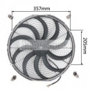 "Auto Radiator Fan Car cooling Fan universal 16""curved Chrome"